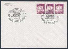 Deutschland Germany 1975 - Brief Cover - Tag Der Offenen Tür - Thein-Ruhr Eisenbahnmuseum, Bochum - Dalhausen - Treinen