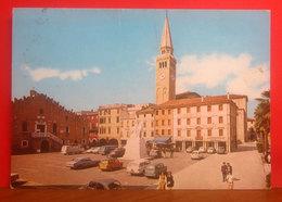 PORTOGRUARO (VE) Piazza Repubblica - Auto Cars Insegne Birra Dreher - Assicurazioni Generali Cartolina 1972 - Italië