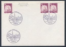 """Deutschland Germany 1975 - Brief Cover - 5. BSW """"Phila 75"""" - Briefmarkenausstellung - Ulm, Donau / Stamp Exhibition - Treinen"""