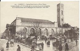 LORIENT (  MORBIHAN  )  EGLISE SAINT-LOUIS ET PLACE BISSON - Lorient