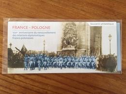 Souvenir Philatélique FRANCE-POLOGNE, Renouvellement Relations Diplomatiques - 2019 - Neuf Sous Blister - Souvenir Blocks & Sheetlets