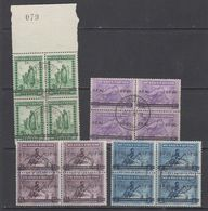 "Ruanda-Urundi 1941 ""Meulemans"" Ovptd 4v Bl Of 4 Used (43981) Ca Usumbura - 1924-44: Afgestempeld"