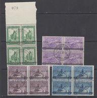 "Ruanda-Urundi 1941 ""Meulemans"" Ovptd 4v Bl Of 4 Used (43982) Ca Usumbura - 1924-44: Afgestempeld"