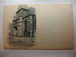 Carte Postale Hesdin (62) Eglise Notre Dame (CPA Dos Non Divisé Noir Et Blanc Non Circulée ) - Hesdin