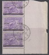 "Ruanda-Urundi 1941 ""Meulemans"" 60c On 50c Strip Of 3 Used (43983A) Ca Usumbura - 1924-44: Afgestempeld"