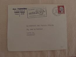 Enveloppe Oblitération Flamme Course Automobile Trophées D'Auvergne 1952 - Marcofilie (Brieven)