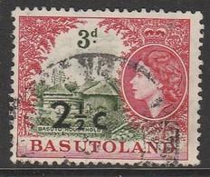 Basutoland 1961 Numbers 46-56 Surcharged  2½ C Carmine/green SW 64 O Used - Basutoland (1933-1966)