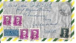 BRAZIL - De RIO DE JANEIRO à CHARDONNE (Suisse) - 26.01.1959 Brief Brazil Correio - Brésil