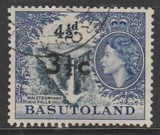 Basutoland 1961 Numbers 46-56 Surcharged  3½ C Ultramarine/black SW 65 O Used - Basutoland (1933-1966)