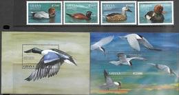 Ghana   1995   Sc#1790-3, 1795-6 Ducks 4 Diff & Souv Sheets  MNH   2016 Scott Value $18 - Ducks