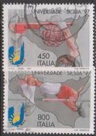 Italy Republic S 2304-2305 1997 Universiade 97 Palermo, Used - 1991-00: Afgestempeld