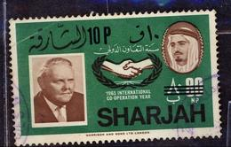 (Free Shipping*) USED STAMP - Sharjah