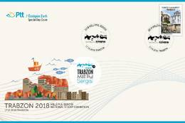 AC - TURKEY FDC - TRABZON2018 NATIONAL STAMP EXHIBITION Trabzon, 17 - 22 OCTOBER 2018 - 1921-... Repubblica