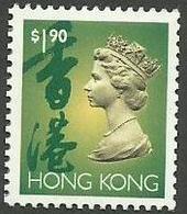 Hong Kong - 1992 QEII Definitive $1.90 MNH **    Sc 645 - Hong Kong (...-1997)