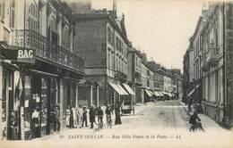 CPA 35 Ille Et Vilaine St Saint Servan Rue Ville Pépin Et La Poste Cyclistes Tabac Non Voyagée - Saint Servan