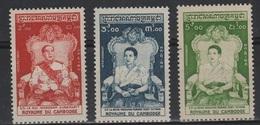 CGE 14 - CAMBODGE N° 57/59 Neufs** - Kambodscha