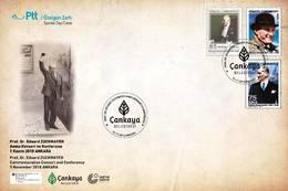 AC - TURKEY FDC - Prof. Dr. EDUARD ZUCKMAYER COMMEMORATION CONCERT AND CONFERENCE Ankara, 01 NOVEMBER 2018 - 1921-... República