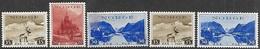 Norway  1938-9   Sc#181-2 MLH,  #184 186 MNH  2016 Scott Value $7.25 - Norway