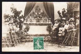 BOUQUEMAISON: Belle Animation Pour Une Fête Religieuse. RARE Carte Photo Obl. En 1912. SUPERBE - Francia