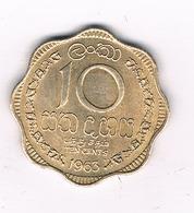 10 CENTS 1963 SRI LANKA /5782/ - Sri Lanka