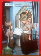 Soldati Bambini - Child Soldiers  CARTOLINA Viaggiata 1964 - Umoristiche