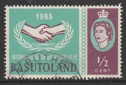 Basutoland 1965 International Co-Operation Year ½ C Bluish Green/brownish Purple SW 97 O Used - 1933-1964 Colonia Britannica