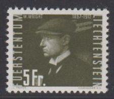 Liechtenstein 1948 Wilbur Wright 5Fr  ** Mnh (43988) - Luchtpostzegels