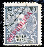 """!■■■■■ds■■ Inhambane 1917 AF#101ø Local """"Republica"""" 700 Réis (D093) - Inhambane"""