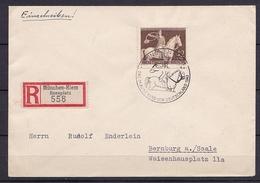 DR EINSCHREIBEN MiNr 854 Mit SST BRAUNES BAND V. 1.8.1943 - Germania