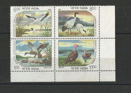 India - 1994 - India - Water Birds - Complete Set (  Withdrawn Issue ) -  MNH - Inde