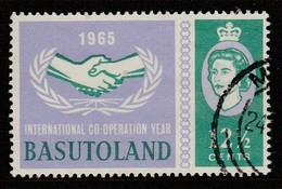 Basutoland 1965 International Co-Operation Year 12½ C Bluish Violet/greenish Blue SW 98 O Used - 1933-1964 Colonia Britannica