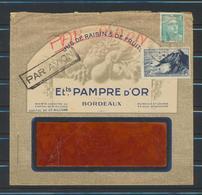 FRANCE  Lettre Publicitaire Ets.PAMPRE D'OR  BORDEAUX 1948  Voir Verso - Advertising
