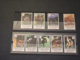 TANZANIA - 1999 ANIMALI 9 VALORI - NUOVI(++) - Tanzania (1964-...)