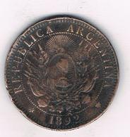 DOS CENTAVOS 1892 ARGENTINIE /5792/ - Argentine