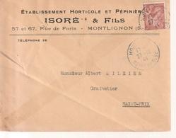 Lettre, Montlignon Par Saint Prix, 1944 - Postmark Collection (Covers)