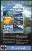 Tristan Da Cunha 2003 World Geographical Records Sheetlet Of 6, MNH, SG 763/8 (crumpled At Top Left) - Tristan Da Cunha