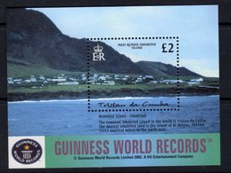 Tristan Da Cunha 2003 World Geographical Records MS, MNH, SG 769 - Tristan Da Cunha