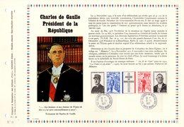 """"""" CHARLES DE GAULLE """" Sur PAC 1° Jour N°té RARE (1000 Ex.) De 1971 . N° YT 1698A  Parfait état. FDC - De Gaulle (General)"""
