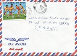 Mali 1992 Bamako World Cup Football Soccer Italia 225f Winners Overprint Cover - Copa Mundial