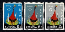 Ethiopië. 1967  Yv  476/78**, Mi 549-51**, Sc 470-72**, Expo 67 Montreal   MNH - Äthiopien