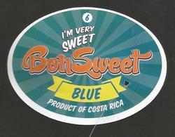 # PINEAPPLE BON SWEET CALIBRE 6 Fruit Tag Balise Etiqueta Anhanger Ananas Pina Costa Rica - Fruit En Groenten