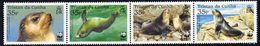 Tristan Da Cunha 2004 Endangered Species, Fur Seal Strip Of 4, MNH, SG 800/3 - Tristan Da Cunha