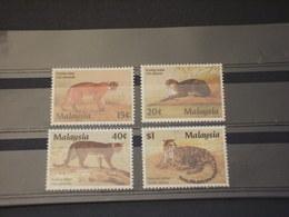 MALAYSIA - 1987 FELINI 4 VALORI - NUOVI(++) - Malesia (1964-...)