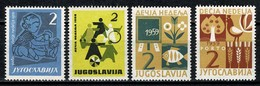 Jugoslavia  1958/1959  Yv 35/36**, 39/40**, MNH - Bienfaisance