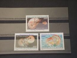 NOUVELLE CALEDONIE - 2001 NAUTILE 3 VALORI - NUOVI(++) - Nueva Caledonia