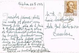 33379. Postal BIELSA (Huesca) 1957.  Postal Fotografica Iglesia JAVIERRE - 1931-Hoy: 2ª República - ... Juan Carlos I