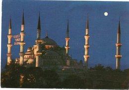 A NIGHT VIEW OF THE BLEU MOSQUE- VIAGGIATA     FG - Turchia