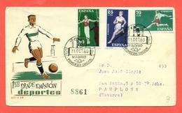SPORT- CALCIO SPAGNAA -SPORT VARI- MARCOFILIA - 1960 - FDC