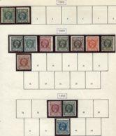 14057 GUINEE ESPAGNOLE Collection Vendue Par Page N°1/2 9/16, 36/7, 42  *   1902-05   B/TB - Guinea Espagnole