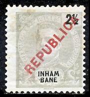 """!■■■■■ds■■ Inhambane 1917 AF#089* Local """"Republica"""" 2,5 Réis (x0923) - Inhambane"""